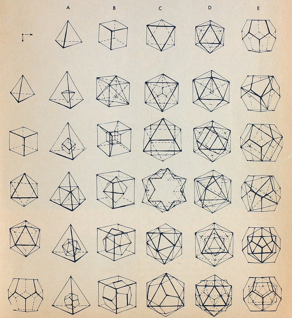 Platonic solids combined
